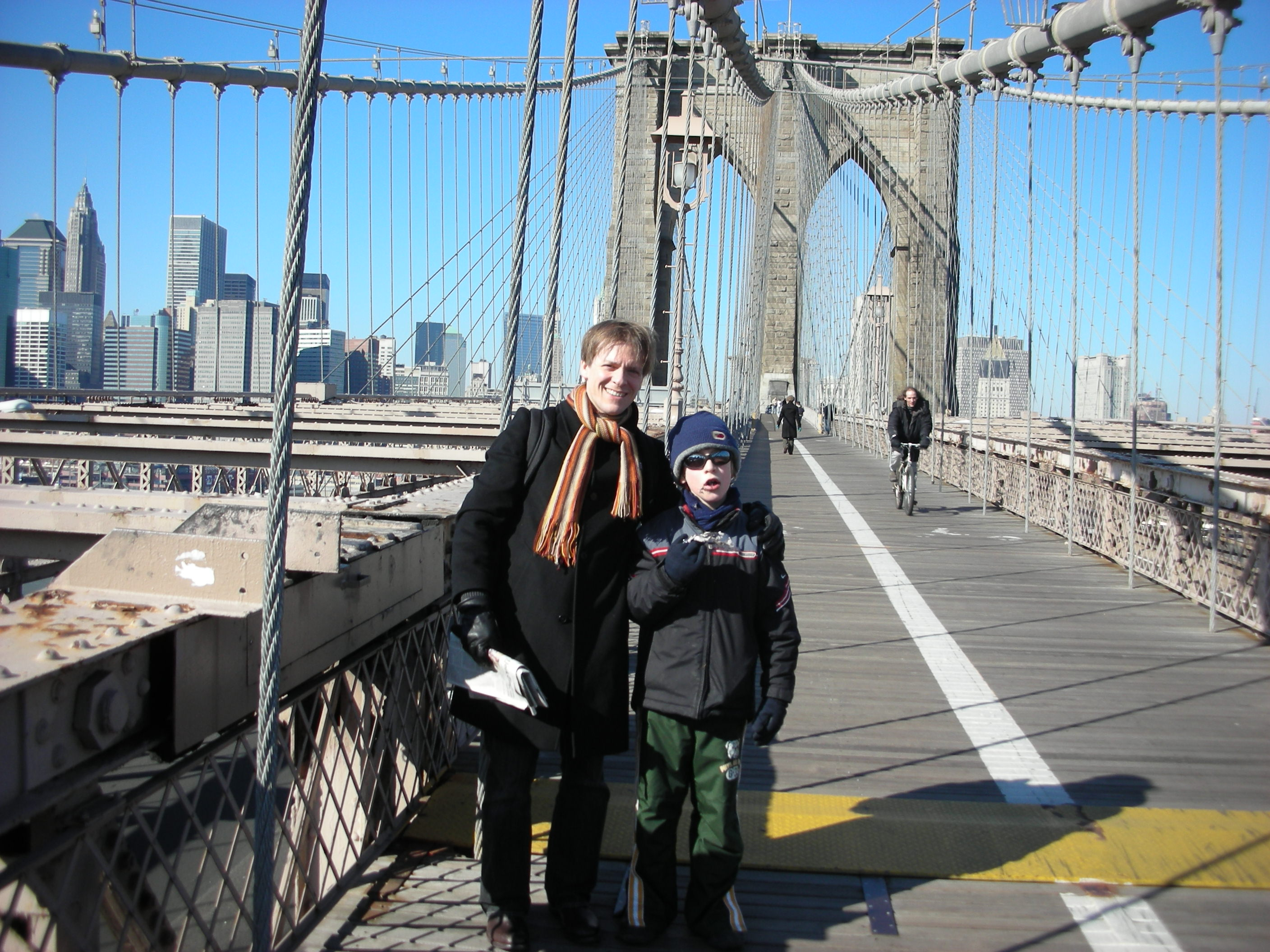 With Janos on Brooklyn Bridge