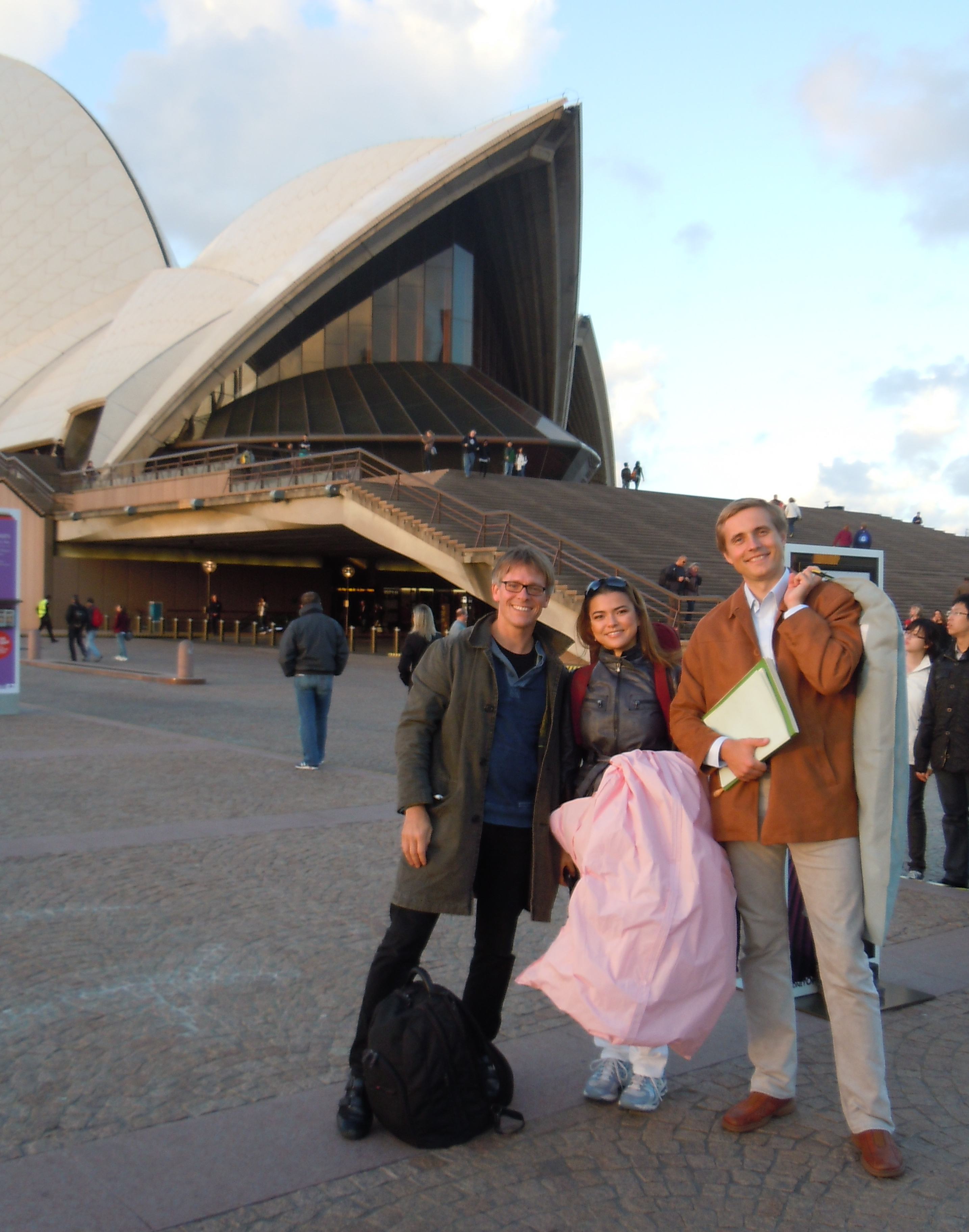 With Vasily Petrenko and Karen Gomyo after our Brahms Double in front of Sydney Opera