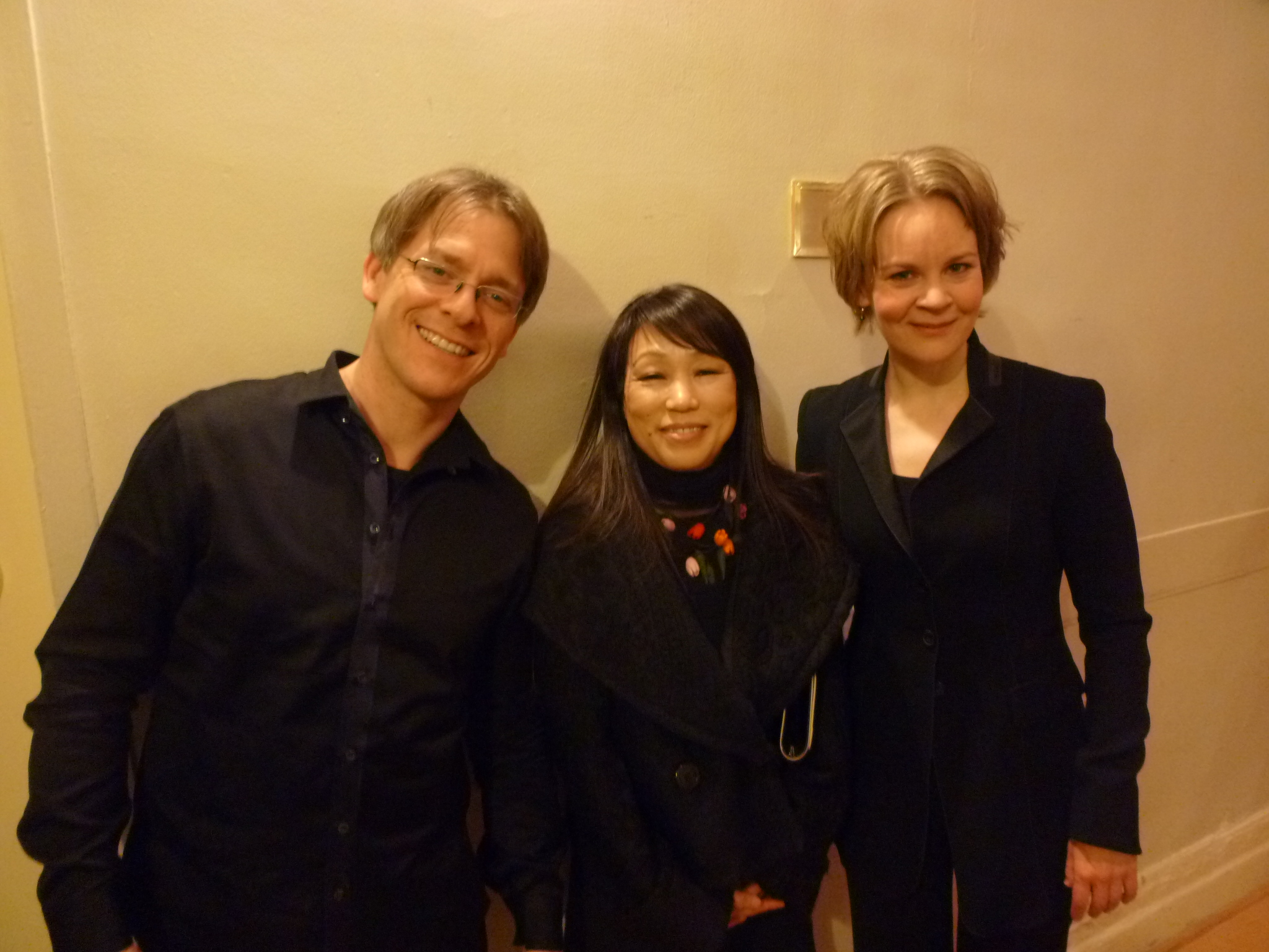 with Susanna Mälkki and Unsuk Chin after the US premier of the Chin Concerto
