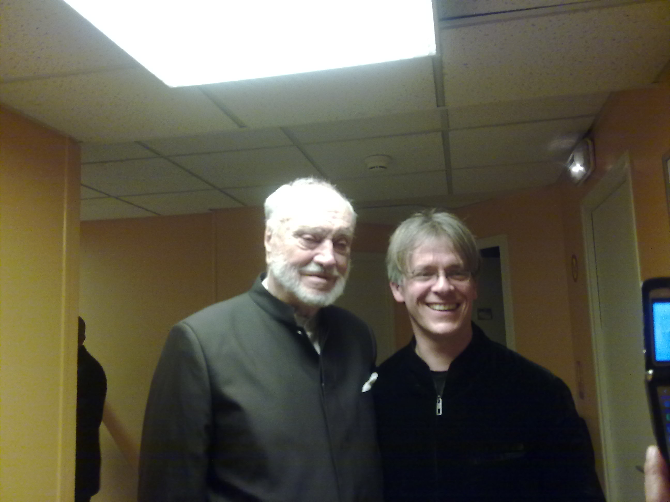 With Kurt Masur at the Theatre Champs-Elysee
