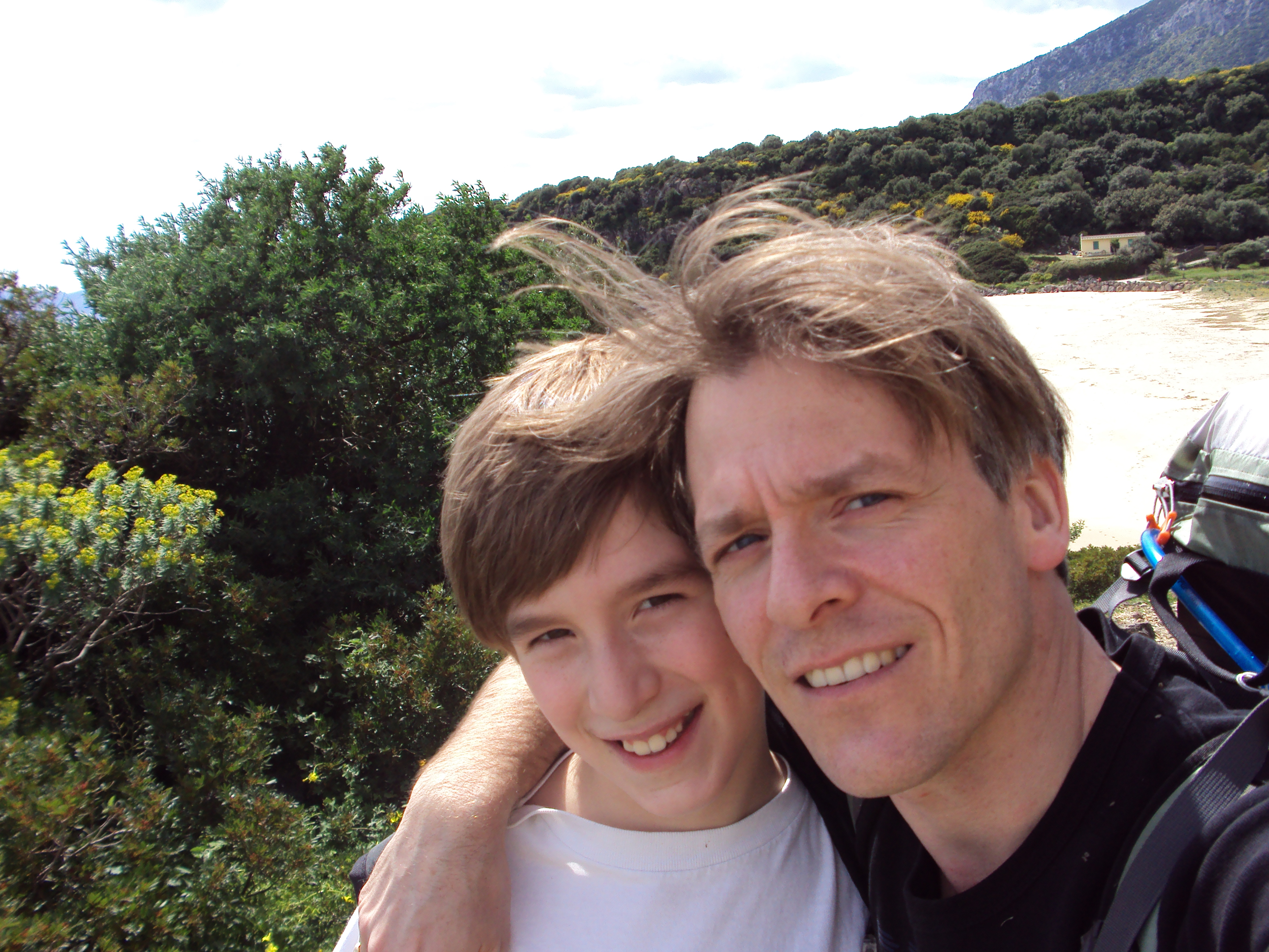 Father and son in Sardinia