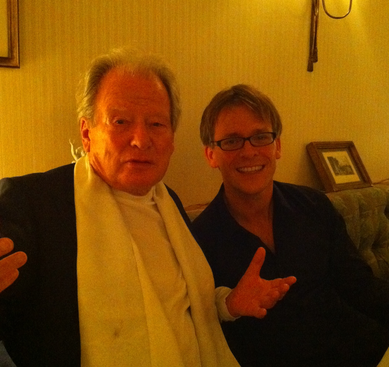 With Sir Neville Mariner after performance in Tokyo